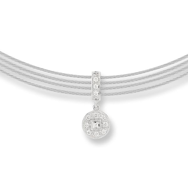 Alor Multi Cable Strand Diamond Necklace Rolland's Jewelers Libertyville, IL