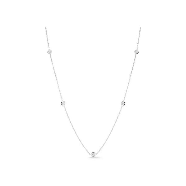 Roberto Coin 5 Station Diamond Necklace Rolland's Jewelers Libertyville, IL