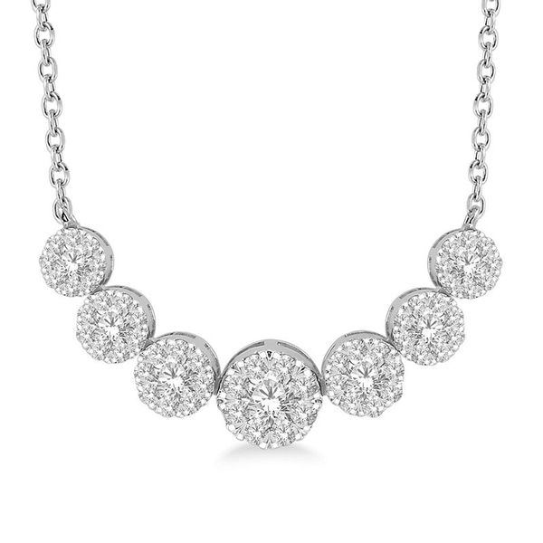 Rolland's Design Diamond Cluster Necklace- 0.75 Cts Rolland's Jewelers Libertyville, IL