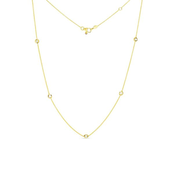 Roberto Coin Diamonds By The Inch Yellow Gold Necklace Rolland's Jewelers Libertyville, IL