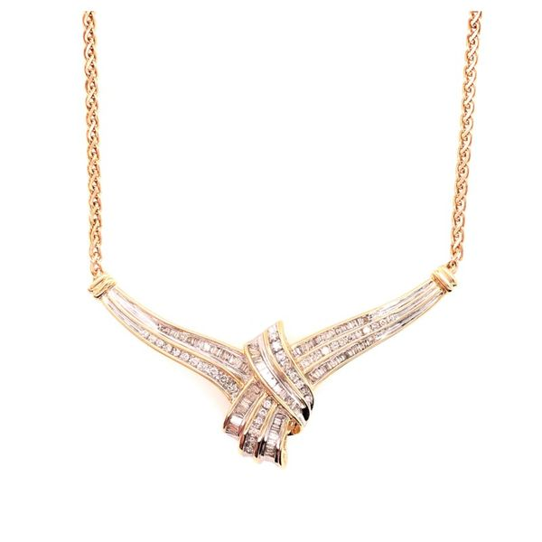 Estate 14K Yellow Gold Diamond Necklace Rolland's Jewelers Libertyville, IL