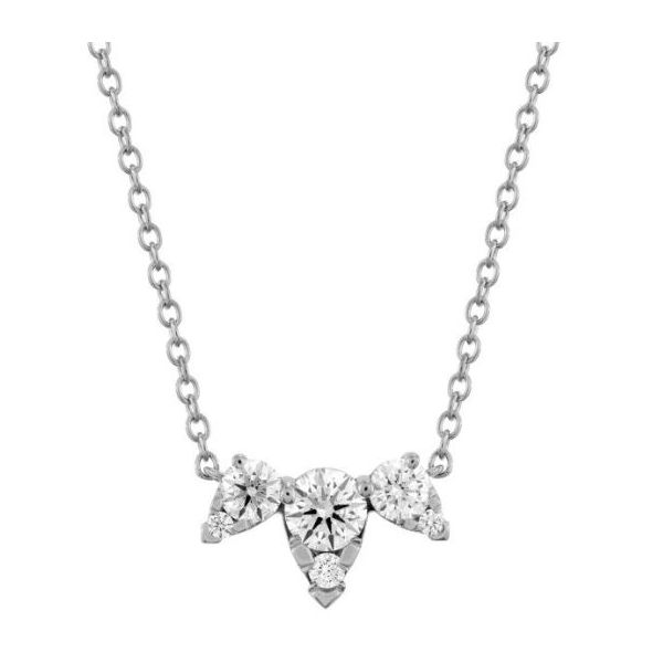 Hearts On Fire Aerial Triple Diamond Necklace Rolland's Jewelers Libertyville, IL