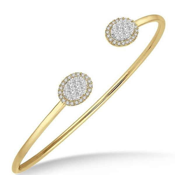 Rolland's Design Oval Shaped Diamond Cuff Bangle Rolland's Jewelers Libertyville, IL