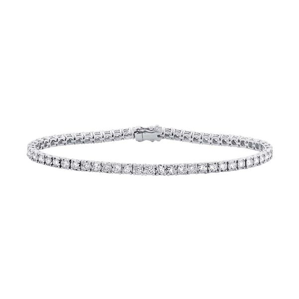 Rolland's Design White Gold Tennis Bracelet- 3.00 Cts Rolland's Jewelers Libertyville, IL