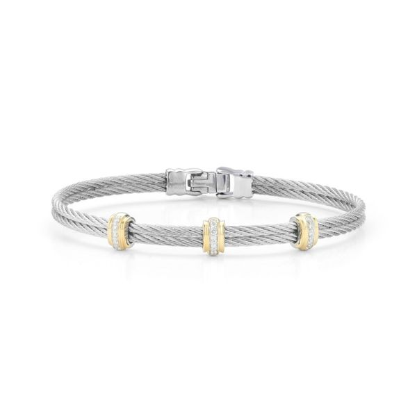 Alor Triple Diamond Bar Bracelet Rolland's Jewelers Libertyville, IL