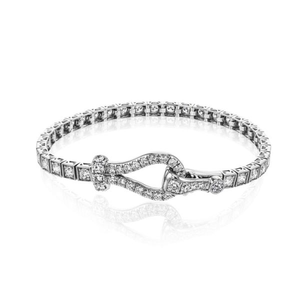 Simon G. Diamond Buckle Bracelet Rolland's Jewelers Libertyville, IL