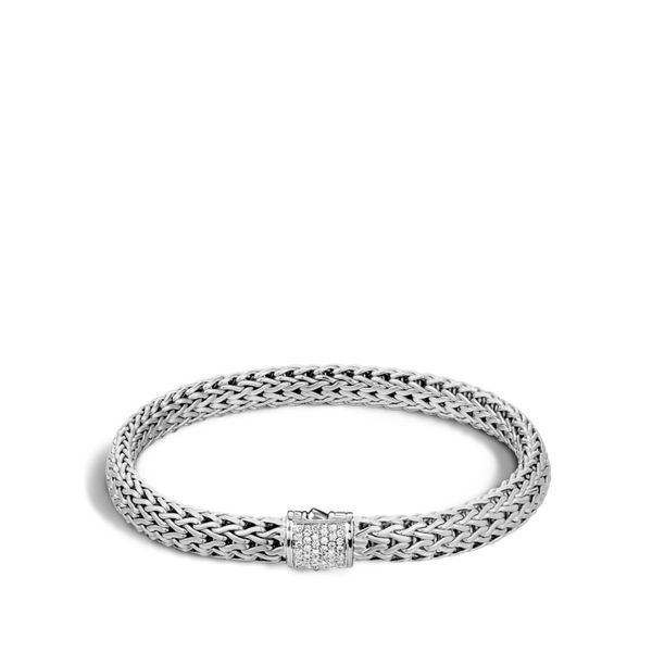 John Hardy Classic Chain Bracelet with Diamonds Rolland's Jewelers Libertyville, IL