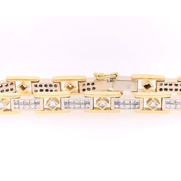 Estate 18K Two Tone Diamond Tennis Bracelet Rolland's Jewelers Libertyville, IL