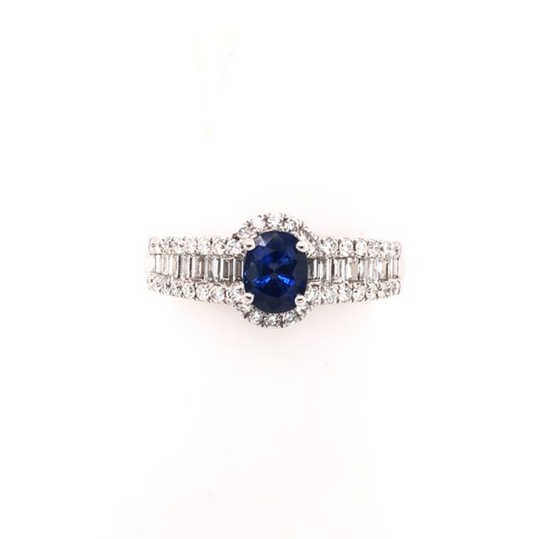 Rolland's Design Sapphire & Diamond Ring Rolland's Jewelers Libertyville, IL