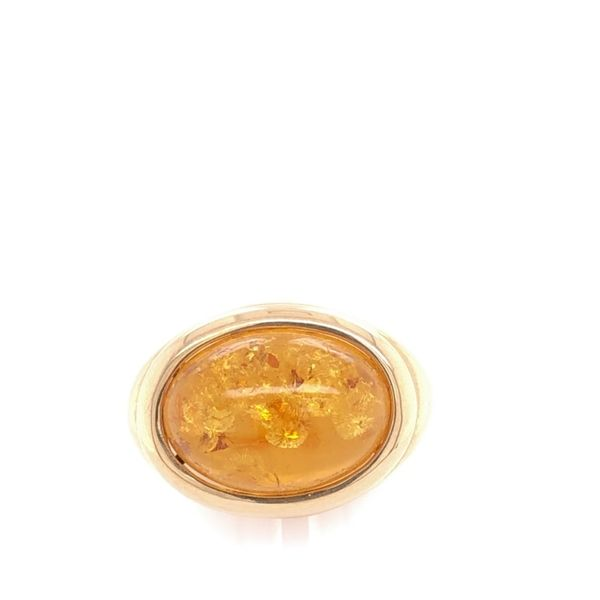 Estate 14K Yellow Gold Amber Ring Rolland's Jewelers Libertyville, IL