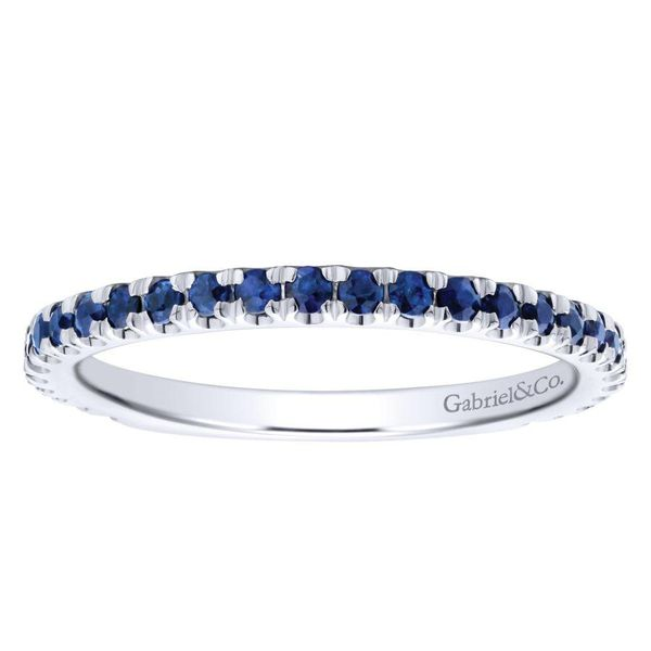 Gabriel Sapphire Stackable Ring Image 2 Rolland's Jewelers Libertyville, IL
