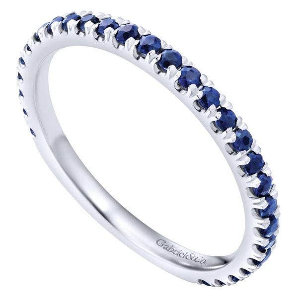 Gabriel Sapphire Stackable Ring Image 3 Rolland's Jewelers Libertyville, IL