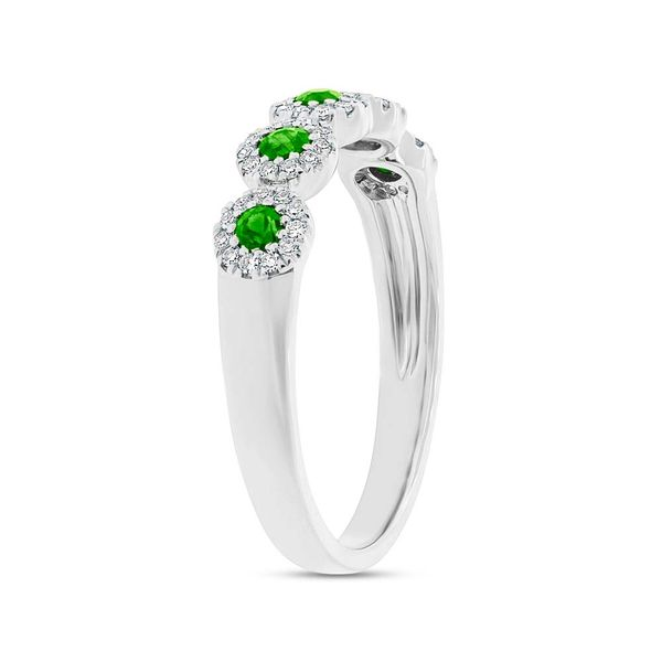 Shy Creation Diamond and Green Garnet 5 Station Ring Image 3 Rolland's Jewelers Libertyville, IL