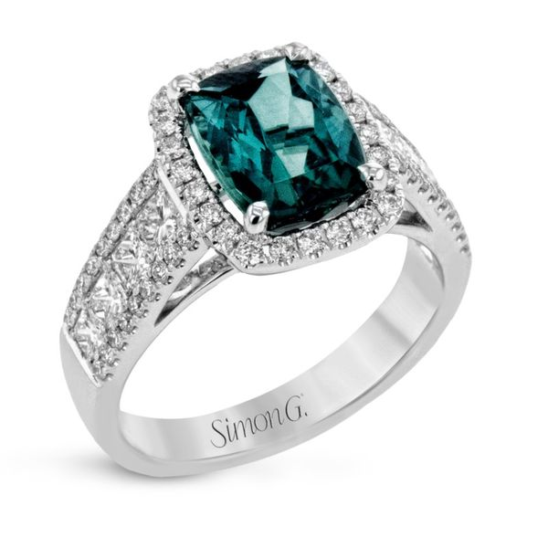 Simon G. Green Tourmaline and Diamond Ring Rolland's Jewelers Libertyville, IL
