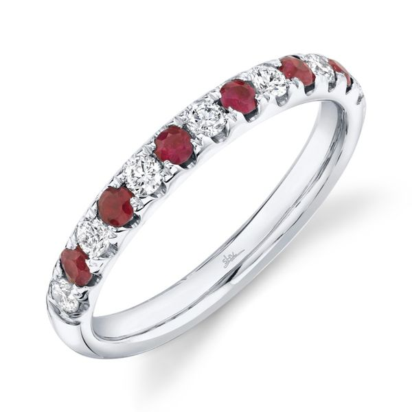 Rolland's Design Diamond & Ruby Band Rolland's Jewelers Libertyville, IL