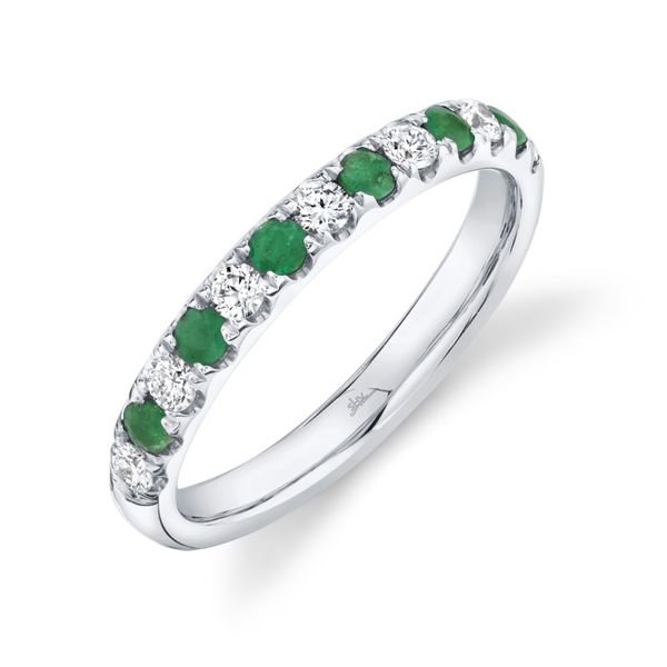 Shy Creation Diamond & Emerald Band Rolland's Jewelers Libertyville, IL