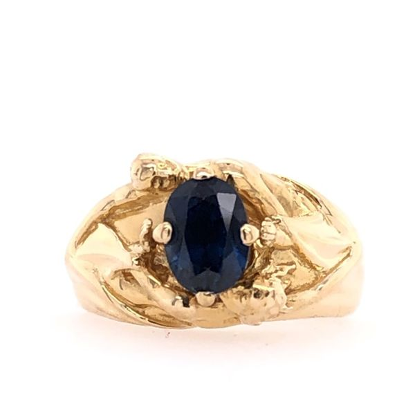 Estate 22K Yellow Gold Sapphire Ring Rolland's Jewelers Libertyville, IL