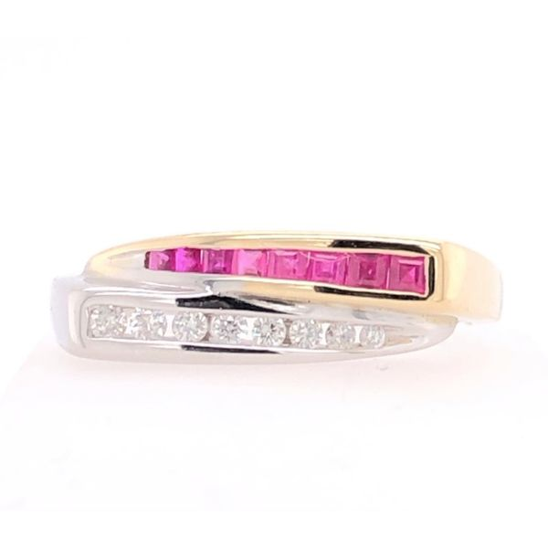 Estate 14K Two-Tone Ruby & Diamond Ring Rolland's Jewelers Libertyville, IL
