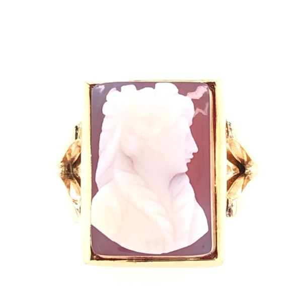 Estate 14K Yellow Gold Cameo Ring Rolland's Jewelers Libertyville, IL