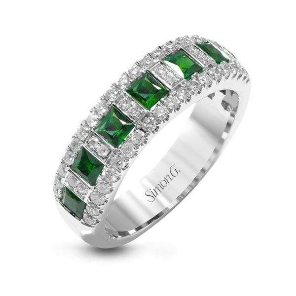 Simon G. Emerald & Diamond Ring Rolland's Jewelers Libertyville, IL