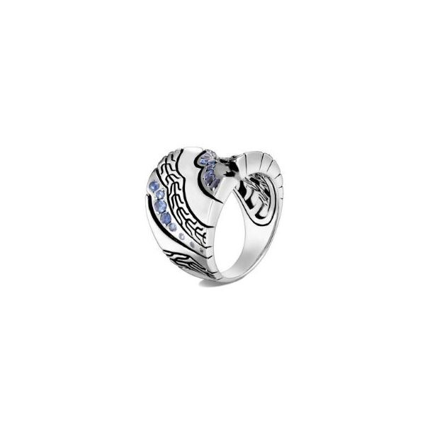 John Hardy Lahar Saddle Ring With Blue Sapphire Rolland's Jewelers Libertyville, IL