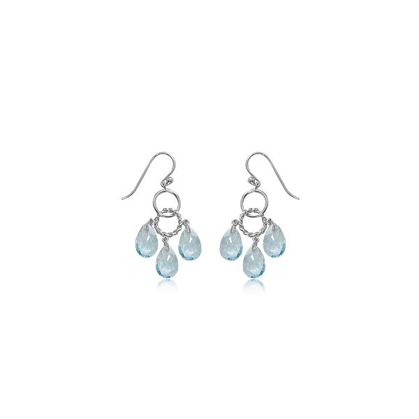 Carla Sterling Silver Blue Topaz Trio Earrings Rolland's Jewelers Libertyville, IL