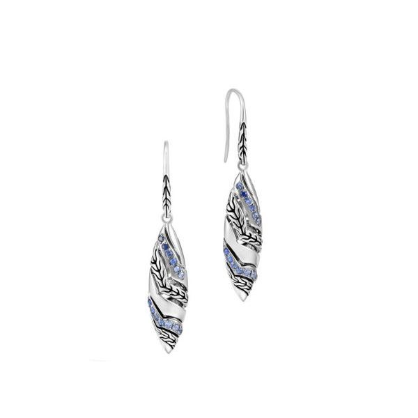 John Hardy Lahar Marquise Drop Earrings With Blue Sapphire Rolland's Jewelers Libertyville, IL