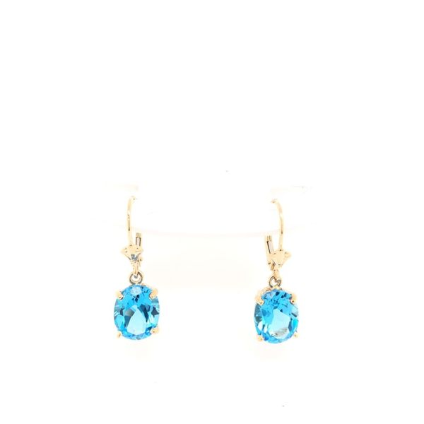 Estate 14K Yellow Gold Blue Topaz Earrings Rolland's Jewelers Libertyville, IL