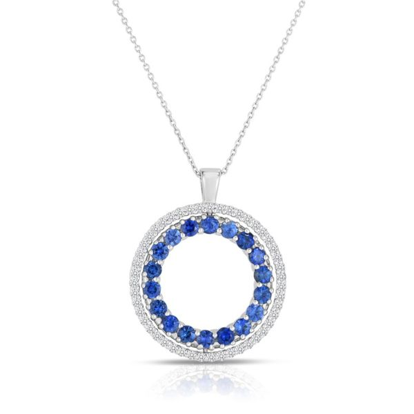 a69b31c7a43 Roberto Coin Diamond and Blue Sapphire Reversible Pendant thumb image 1