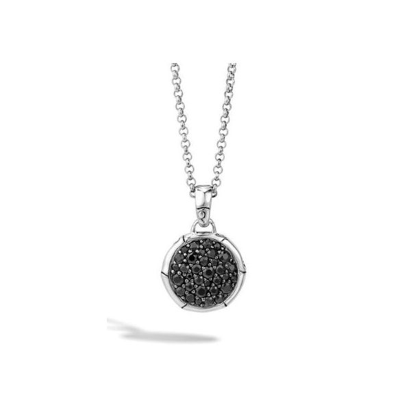 John Hardy Pendant Necklace with Black Sapphire Rolland's Jewelers Libertyville, IL