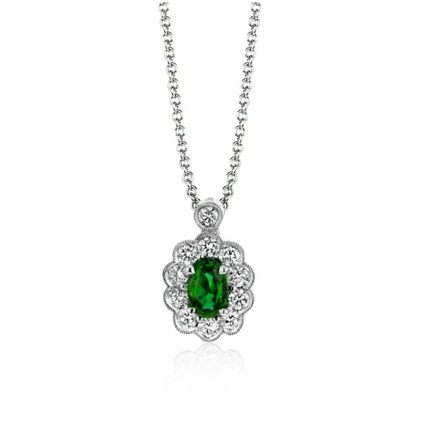 Simon G. Emerald and Diamond Necklace Rolland's Jewelers Libertyville, IL