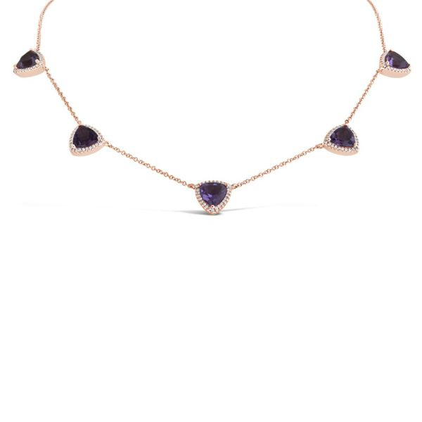 Rolland's Design Amethyst and Diamond Necklace Rolland's Jewelers Libertyville, IL