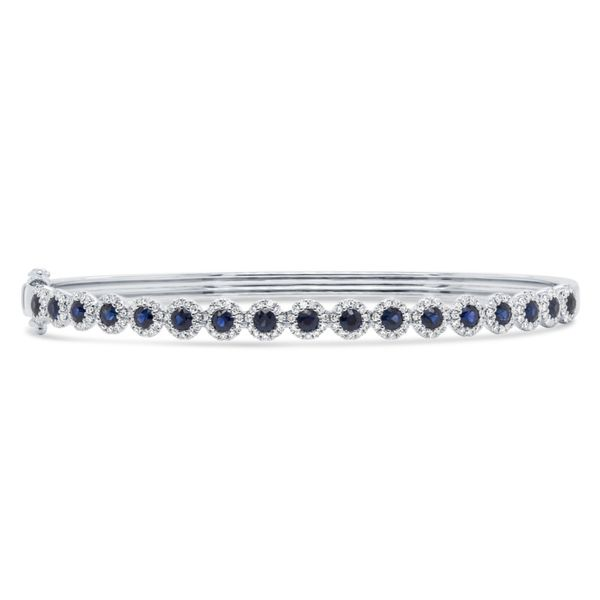 Rolland's Design Blue Sapphire & Diamonds Bangle Rolland's Jewelers Libertyville, IL