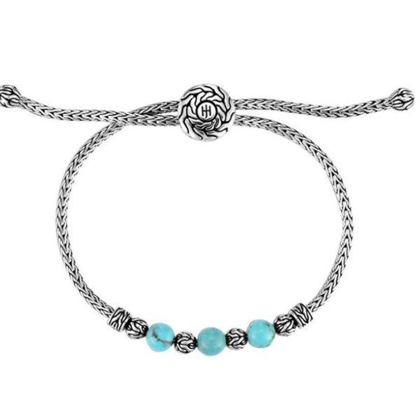 John Hardy Classic Chain Pull Through Bracelet with Turquoise Rolland's Jewelers Libertyville, IL