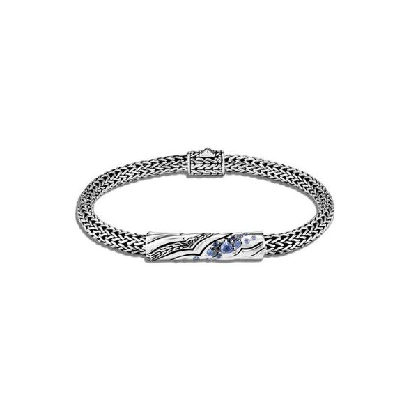 John Hardy Lahar Station Bracelet With Blue Sapphire Rolland's Jewelers Libertyville, IL