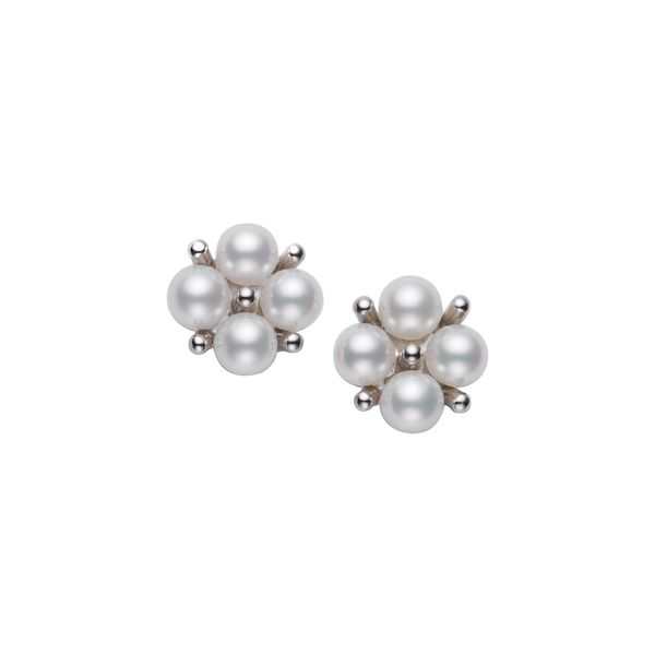 Mikimoto Akoya Pearl Cluster Earrings Rolland's Jewelers Libertyville, IL