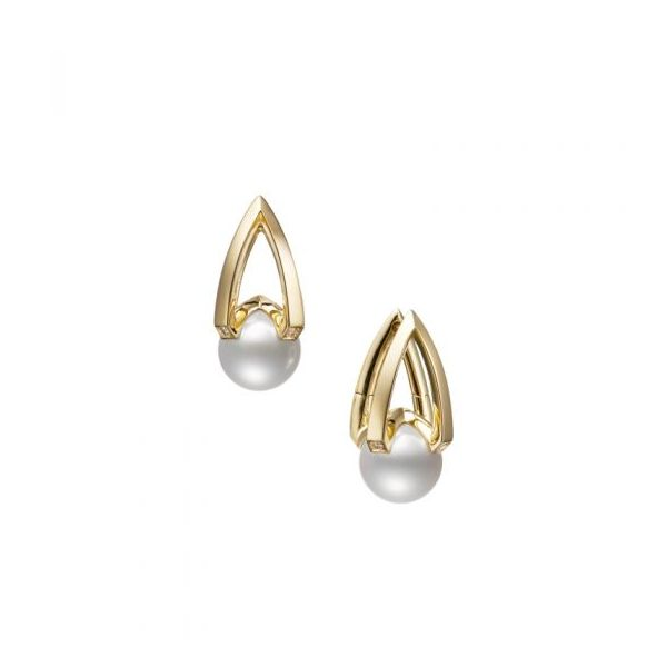 Mikimoto Akoya A+ Pearl & Diamond Earrings Rolland's Jewelers Libertyville, IL