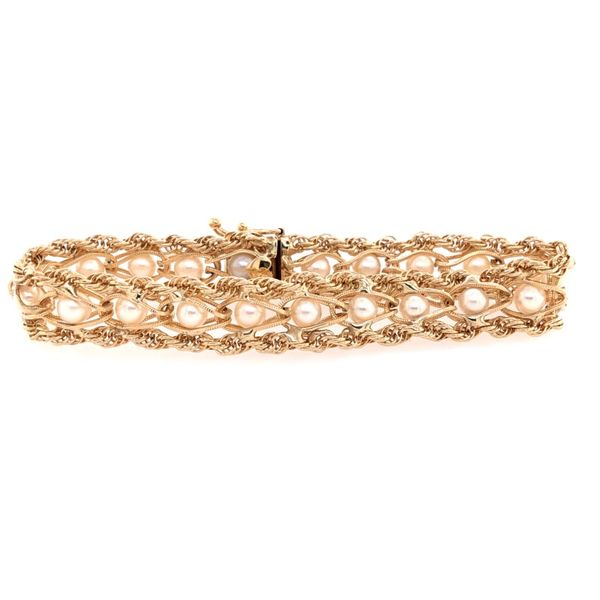 Estate 14K Yellow Gold Pearl Rope Bracelet Rolland's Jewelers Libertyville, IL