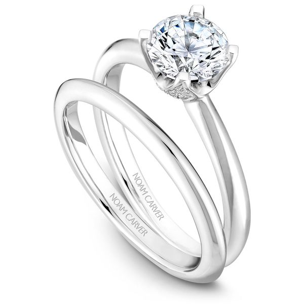 Noam Carver White Gold Wedding Band Image 2 Rolland's Jewelers Libertyville, IL