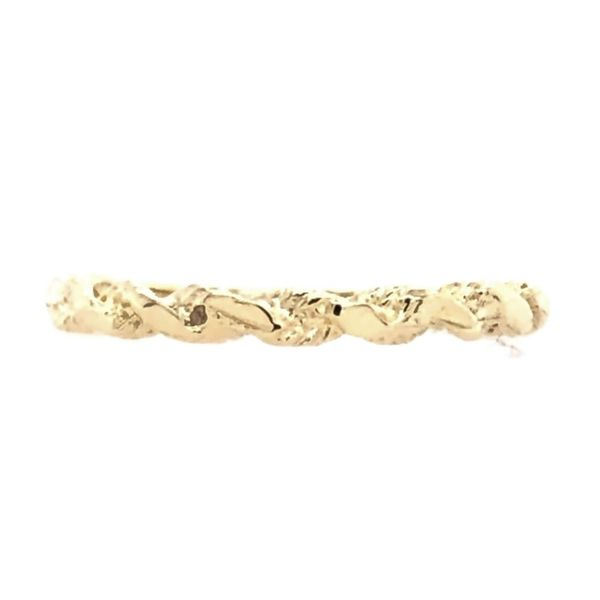 Estate 14K Yellow Gold Twisted Diamond Cut Band Rolland's Jewelers Libertyville, IL