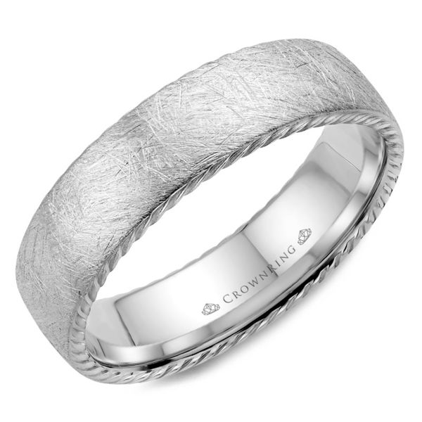 Crown Ring Brushed Rope Men's Band Rolland's Jewelers Libertyville, IL