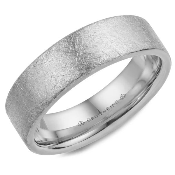 Crown Ring Brushed Men's Band Rolland's Jewelers Libertyville, IL