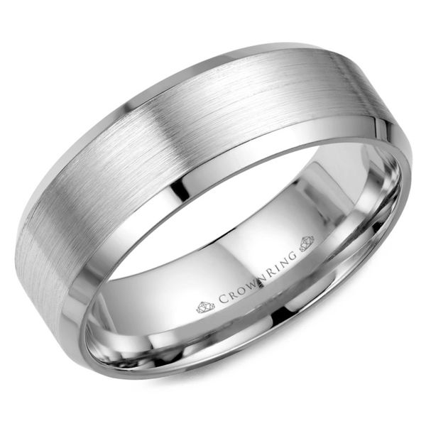 Crown Ring Satin Men's Band Rolland's Jewelers Libertyville, IL
