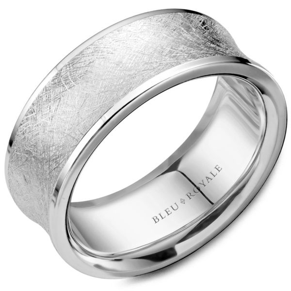 Bleu Royale Brushed Men's  Band Rolland's Jewelers Libertyville, IL