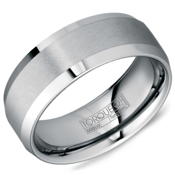 Crown Grey Tungsten Carbide Wedding Band Rolland's Jewelers Libertyville, IL