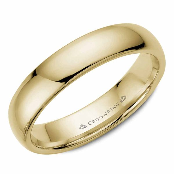 Crown Ring Traditional Gold Wedding Band Rolland's Jewelers Libertyville, IL
