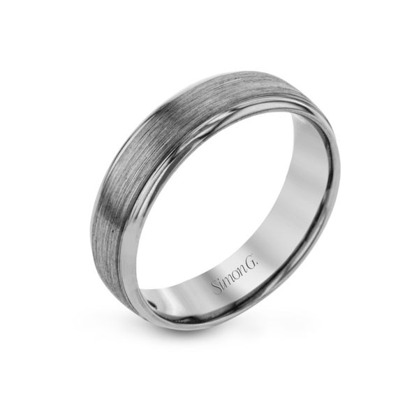 Simon G. White Gold Men's Wedding Band Rolland's Jewelers Libertyville, IL