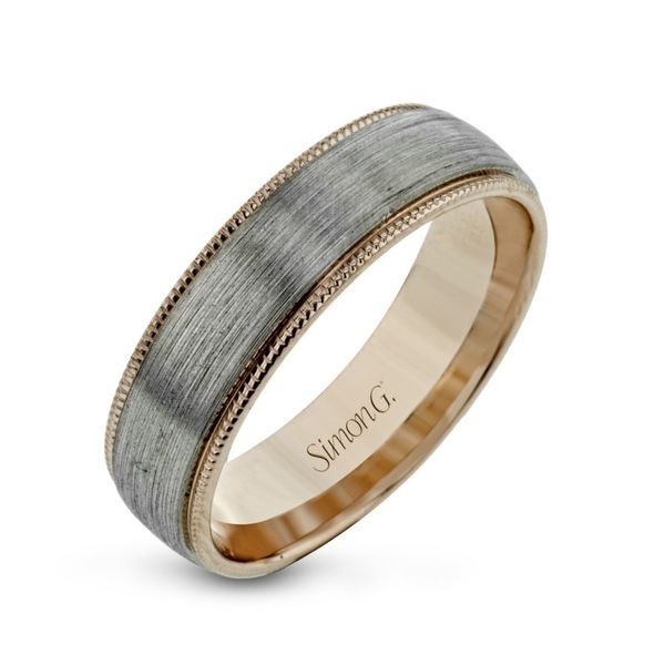 Simon G. Two Tone Gold Men's Wedding Band Rolland's Jewelers Libertyville, IL