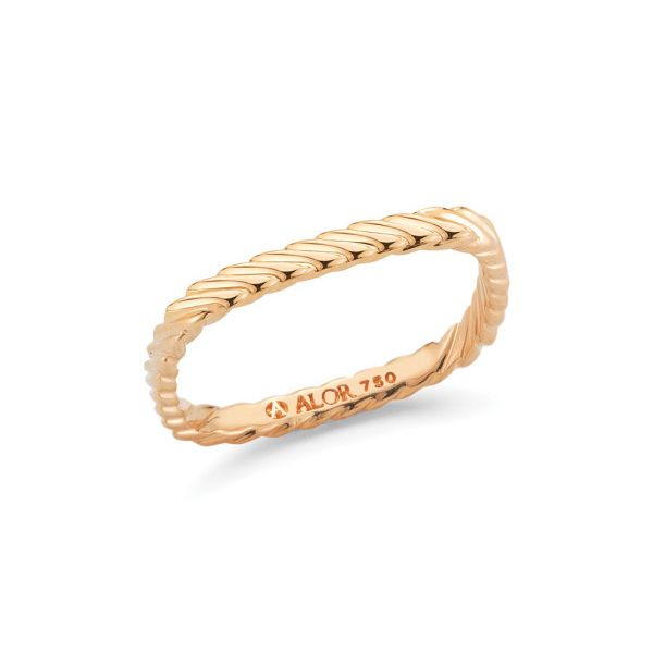 Alor Twisted Rose Gold Ring Rolland's Jewelers Libertyville, IL