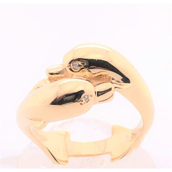 Estate 14K Yellow Gold Dolphin Ring Rolland's Jewelers Libertyville, IL